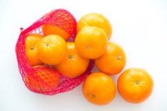 Mandarini isolati dei precedenti bianchi Immagine Stock Libera da Diritti
