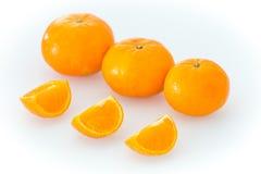 Mandarini isolati sui precedenti bianchi Immagine Stock Libera da Diritti