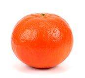 Mandarini maturi isolati su fondo bianco Fotografia Stock Libera da Diritti