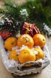 Mandarini nel canestro fotografia stock libera da diritti