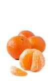 Mandarini su fondo bianco Fotografie Stock