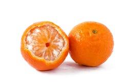 Mandarini su fondo bianco Fotografia Stock Libera da Diritti