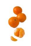 Mandarini su fondo bianco Immagini Stock Libere da Diritti