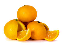 Mandarini su priorità bassa bianca Fotografie Stock Libere da Diritti