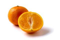 Mandarini su priorità bassa bianca Fotografia Stock Libera da Diritti