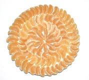Mandarini su un piatto Fotografia Stock Libera da Diritti