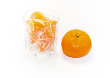 Mandarini sugosi Fotografia Stock