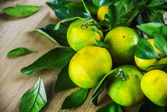 Mandarini sulla tavola Immagine Stock