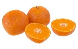 Mandarino contro un fondo bianco Immagine Stock Libera da Diritti