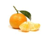 Mandarino e fette Immagini Stock