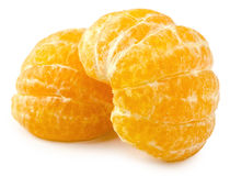 Mandarino isolato Immagini Stock Libere da Diritti