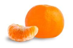 Mandarino isolato su bianco Fotografia Stock