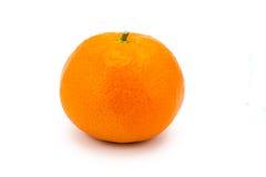 Mandarino maturo su un bianco Fotografia Stock
