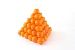 Mandarino in piramide immagine stock libera da diritti