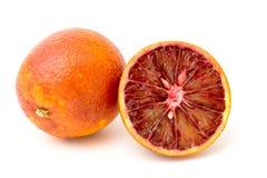 Mandarino rosso isolato su bianco Fotografia Stock