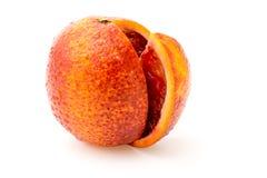 Mandarino rosso su un bianco Immagine Stock Libera da Diritti