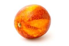 Mandarino rosso su un bianco Fotografie Stock Libere da Diritti
