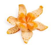 Mandarino sbucciato Fotografia Stock