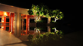 mandarinoriental sanya waterscape Arkivbild