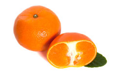 Mandarins. Isolated on white background stock image