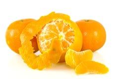 Mandarins. On a white background Stock Photo
