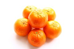 Mandarins. Bright and useful fruits in the winter Stock Image