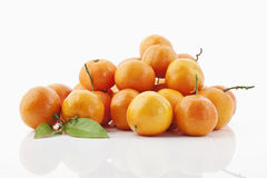 Mandarins. Some mandarins on white background Stock Image