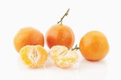 Mandarins. Some mandarins on white background Stock Images