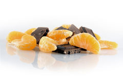 Mandarins And Chocolates Royalty Free Stock Photography