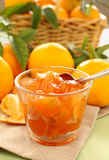 Mandarins And Jam Stock Photo