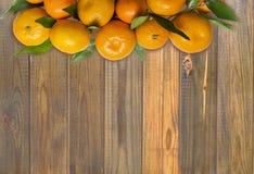 mandarins Bästa sikt med kopieringsutrymme Arkivfoton