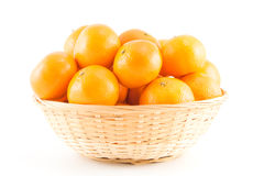Mandarins in the basket Stock Photo