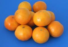 Mandarins on blue Stock Photo