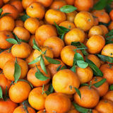 Mandarins on the counter of Market Royalty Free Stock Image