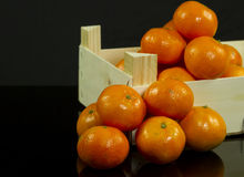 Mandarins in crate Royalty Free Stock Images
