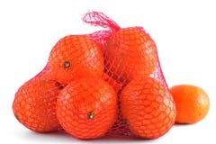 Mandarins in the grid Stock Photo