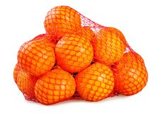 Mandarins in the grid Stock Photos