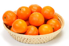 Mandarins isolated on a white Stock Images
