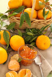 Mandarins And Jam Royalty Free Stock Photography