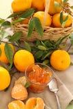 Mandarins And Jam Royalty Free Stock Photography