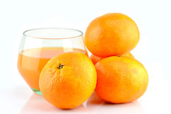 Mandarins and juice Royalty Free Stock Image