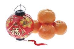 Mandarins and Lantern Stock Photos