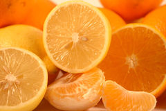 Mandarins,lemons and oranges Stock Photo