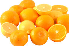 Mandarins,lemons and oranges Royalty Free Stock Images