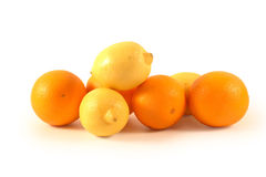 Mandarins,lemons and oranges Royalty Free Stock Photography