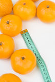 Mandarins and the meter line Stock Image