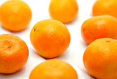 Mandarins in a net Stock Photo