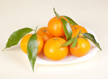 Mandarins On The Plate Royalty Free Stock Photos