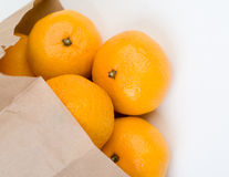 Mandarins out of  the paper bag Royalty Free Stock Images