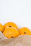 Mandarins out of the paper bag Stock Image